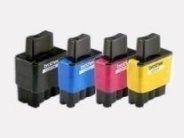 Sparpack - 4 Druckerpatronen kompatibel zu den Brother-Patronen LC900BK, LC900C, LC900M und LC900Y