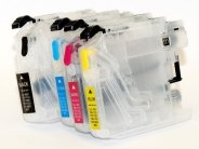 Quickfill-Patronenpack - 4 Quickfill-Patronen kompatibel zu den Brother-Patronen LC121, LC123, LC125 und LC127