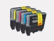 Sparpack - 4 Druckerpatronen kompatibel zu den Brother-Patronen LC1240BK, LC1240C, LC1240M und LC1240Y