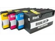 Sparpack - 4 XL-Druckerpatronen kompatibel zu den HP-Patronen 950 schwarz, 951 cyan, 951 magenta und 951 gelb