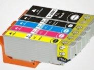 Sparpack mit 5 XL-Druckerpatronen kompatibel zu den Epson-Patronen 26 schwarz, 26 photoschwarz, 26 cyan, 26 magenta und 26 gelb