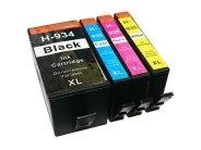 Sparpack - 4 XL-Druckerpatronen kompatibel zu den HP-Patronen 934 schwarz, 935 cyan, 935 magenta und 935 gelb