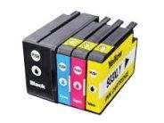 Sparpack - 4 XL-Druckerpatronen kompatibel zu den HP-Patronen 932 schwarz, 933 cyan, 933 magenta und 933 gelb