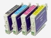 Sparpack mit 4 XL-Druckerpatronen kompatibel zu den Epson-Patronen T0611, T0612, T0613 und T0614