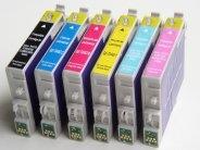 Sparpack mit 6 XL-Druckerpatronen kompatibel zu den Epson-Patronen T0801, T0802, T0803, T0804, T0805 und T0806